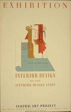 'Exhibition Interior Design' by the interior design staff, Federal Art Project, Works Progress Administration.
