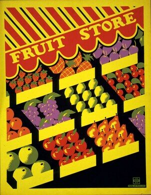 Fruit store.