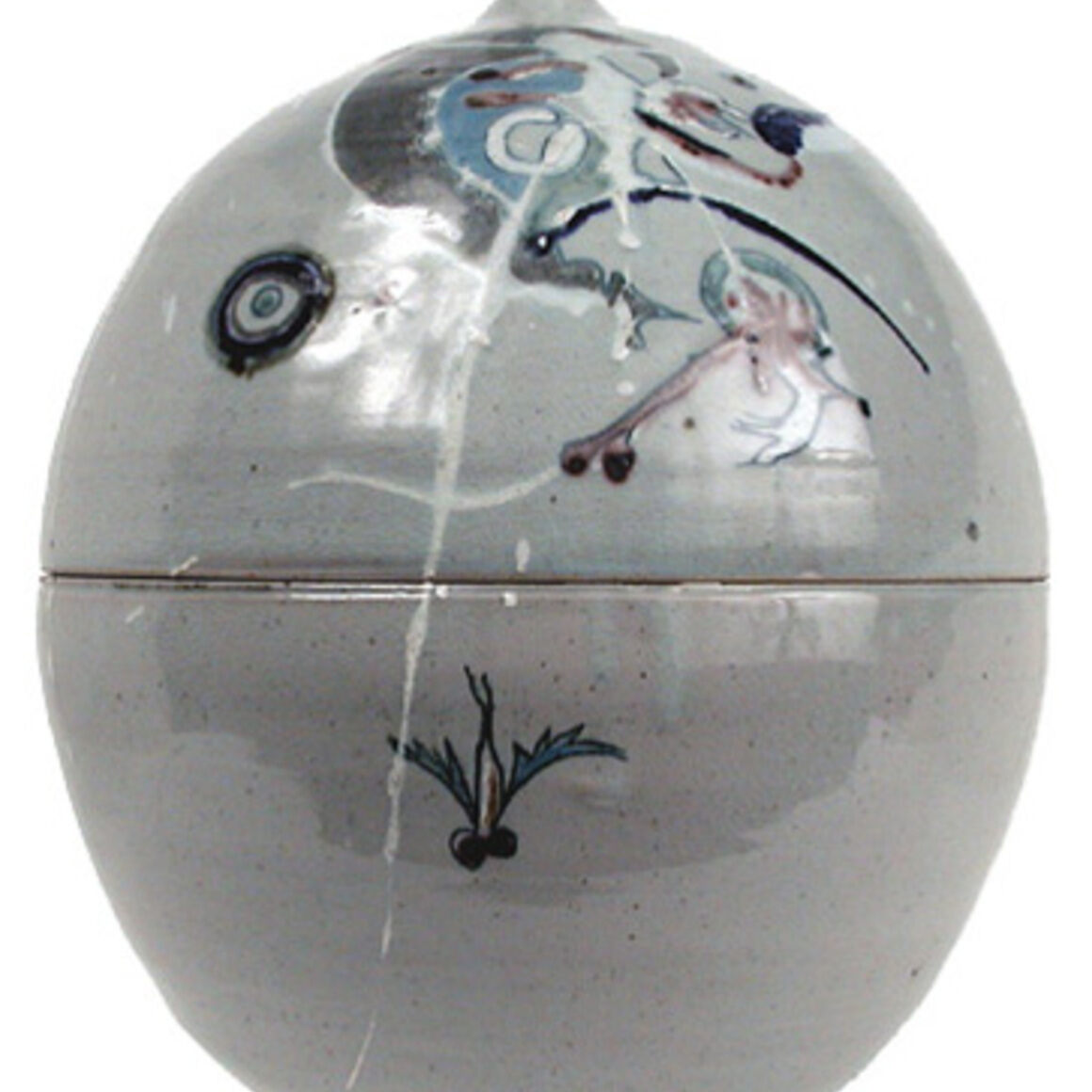 """Sphere"" by Patti Warashina, c. 1966."