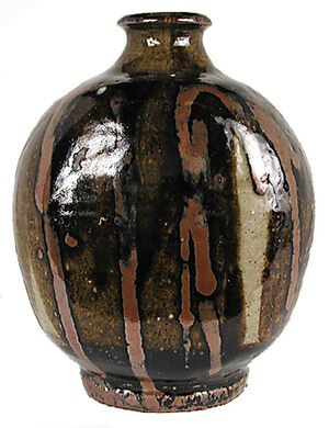 """Bottle"" by Shoji Hamada, c. 1950."