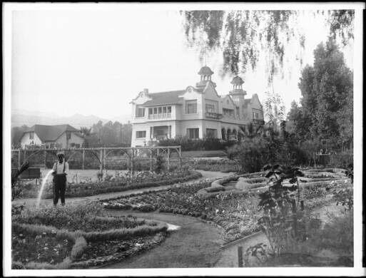 De Longpre Gardens at Hollywood and Cahuenga boulevards.