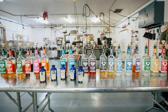 A fine spread of spirits.