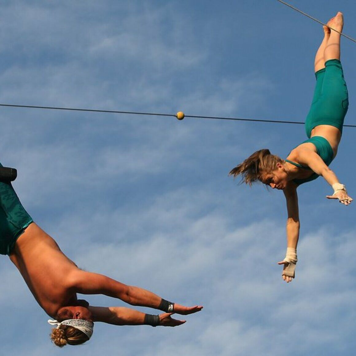 Flying trapeze.