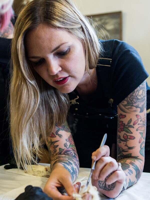 Amber teaching a class in New York.
