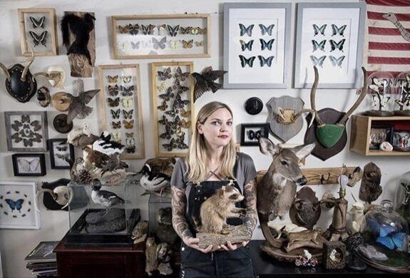 Amber in her studio in Brooklyn.