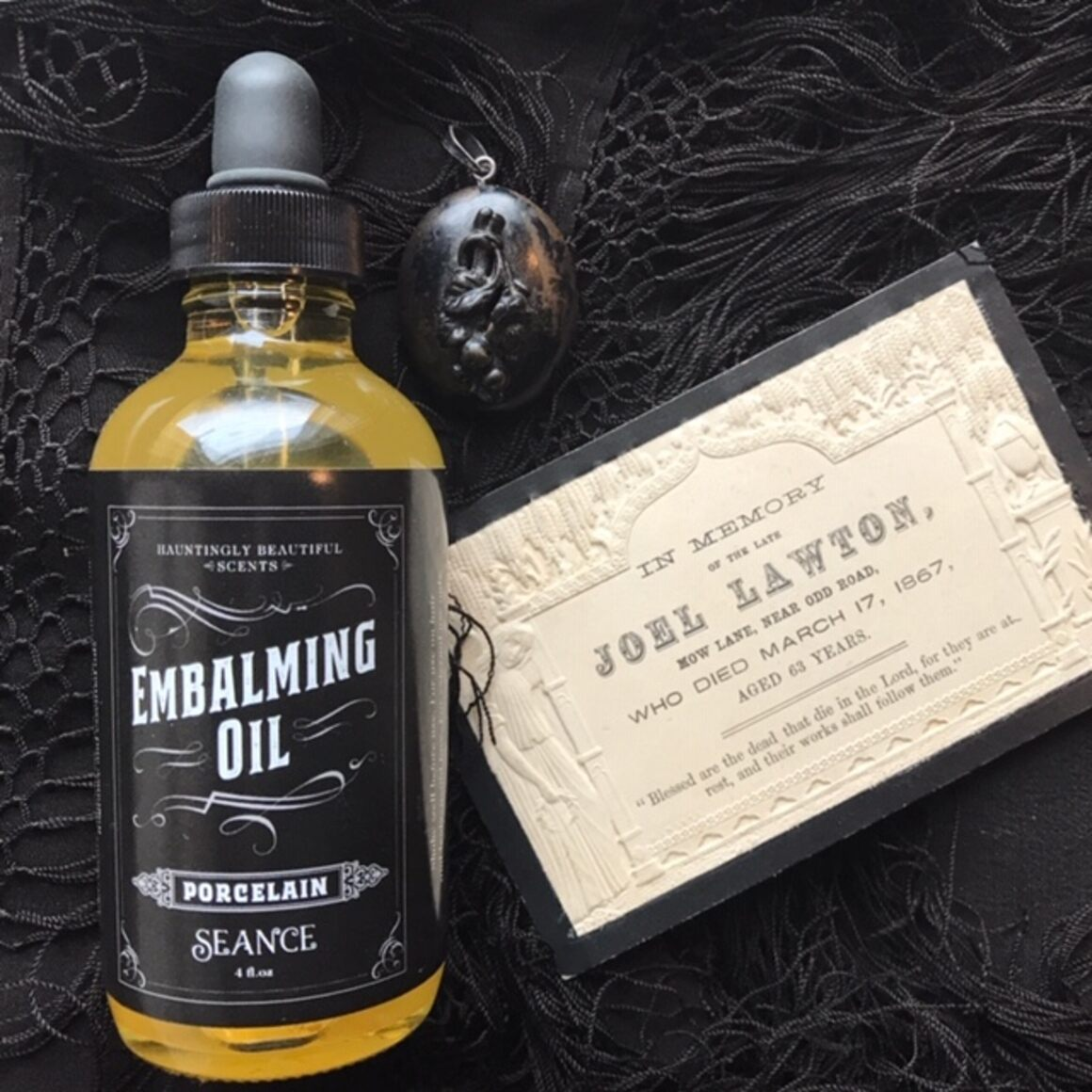 Embalming oil.
