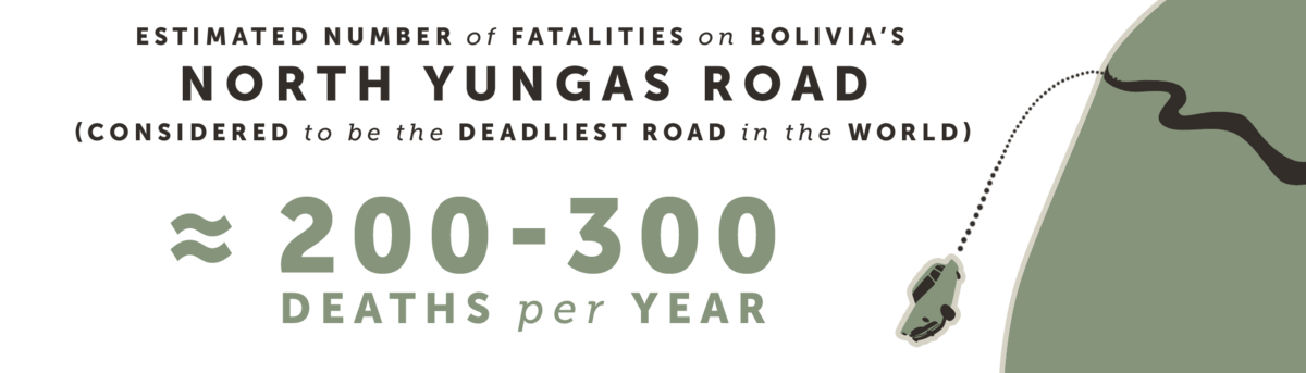 Estimated number of fatalities on Bolivia's North Yungas Road (considered the deadliest road in the world)