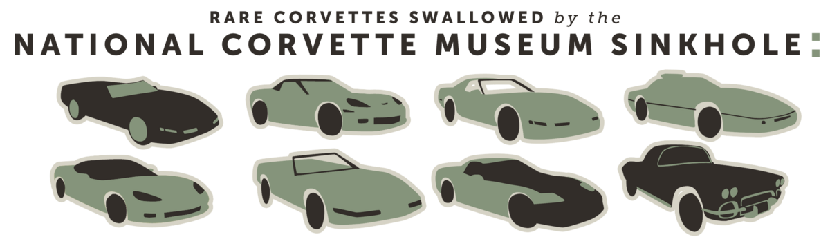 Rare corvettes swallowed by the National Corvette Museum Sinkhole