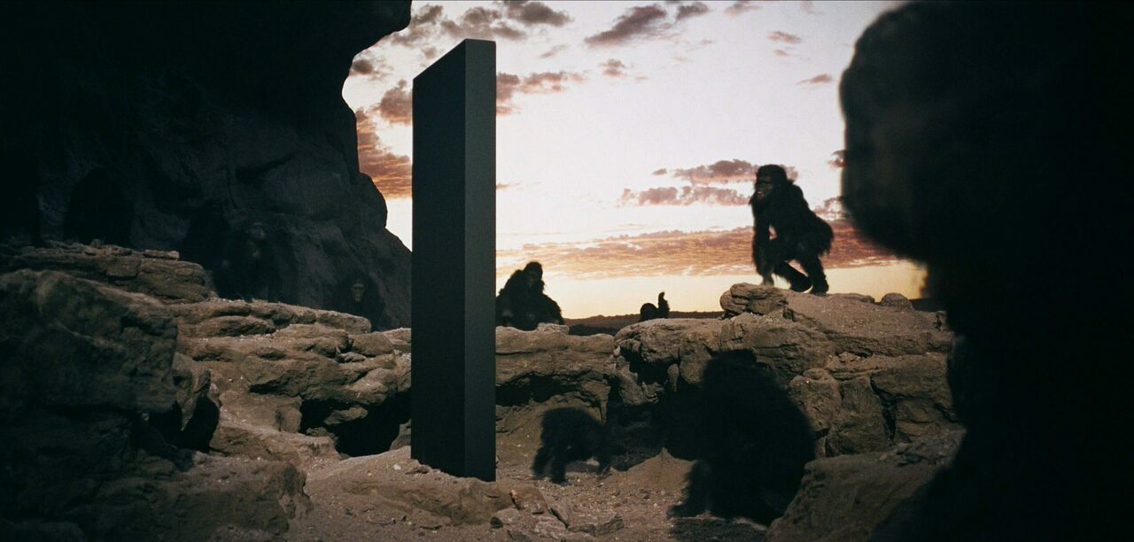 A pivotal moment from Stanley Kubrick's 1968 film <em>2001: A Space Odyssey</em>.