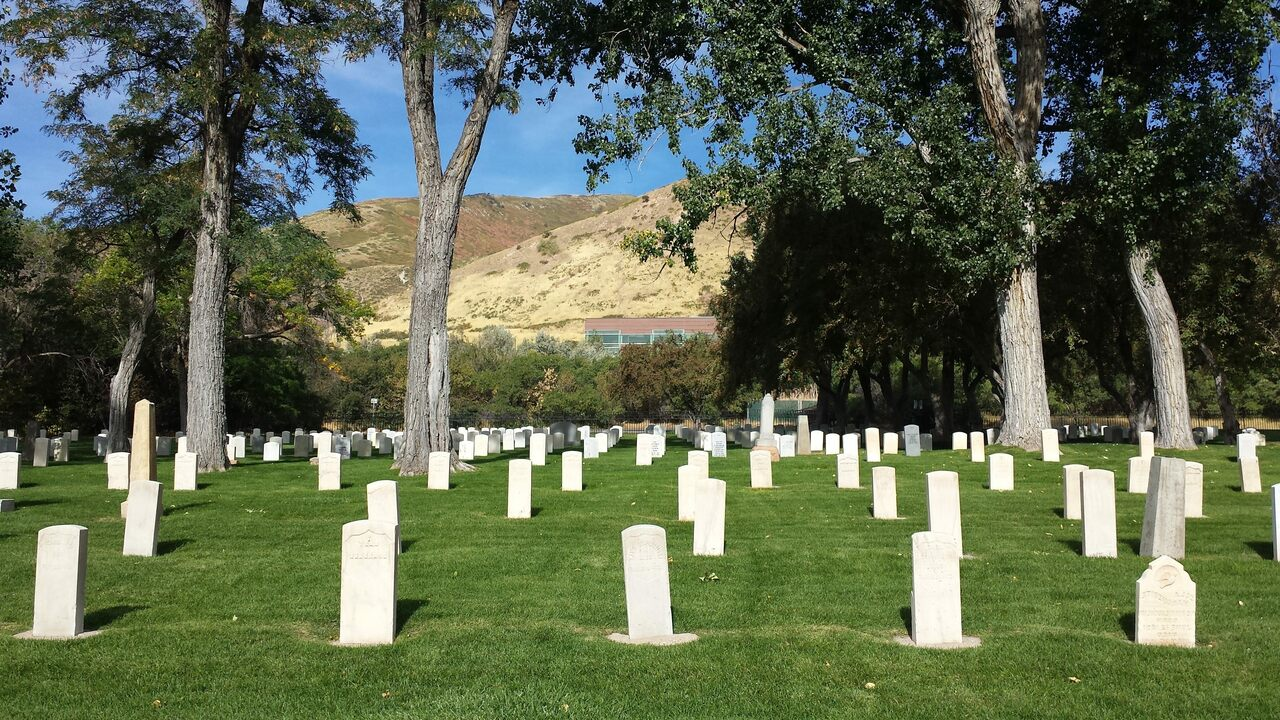 Fort Douglas Post Cemetery, in Salt Lake City, holds the graves of 20 German prisoners of war from World War II.