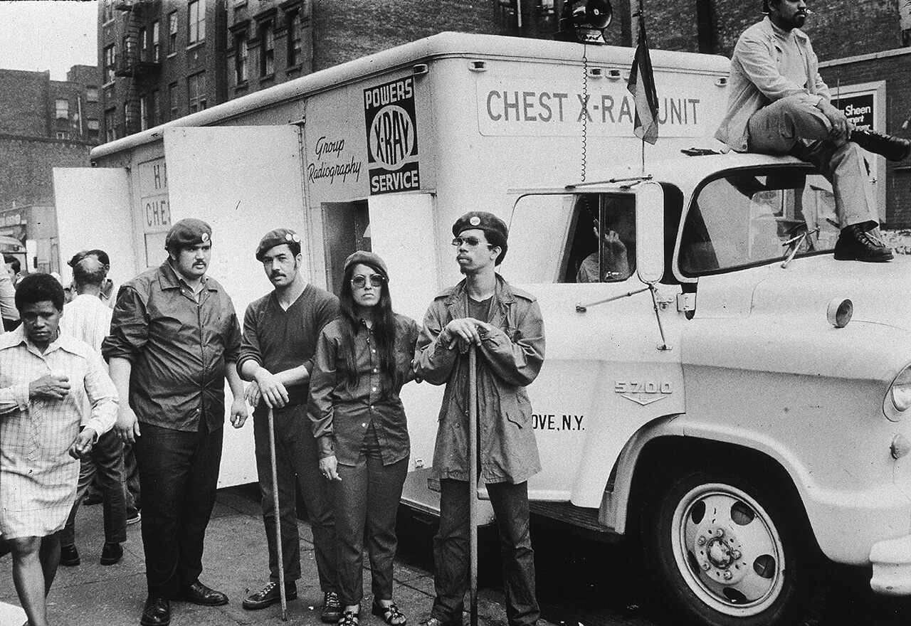 The Young Lords, a Puerto Rican activist group, seized this mobile chest x-ray unit in 1970. A few months later, they and members of the Black Panther Party occupied part of Lincoln Hospital to establish a drug detoxification program.