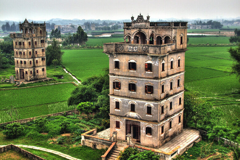 The Lovely Chinese Watchtowers Built with Proceeds from the California Gold Rush