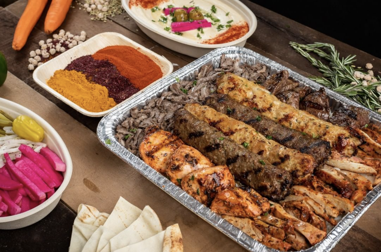 The food at Mr. Kabob, a Chaldean gas-station restaurant that is a short drive from Chaldean Town.