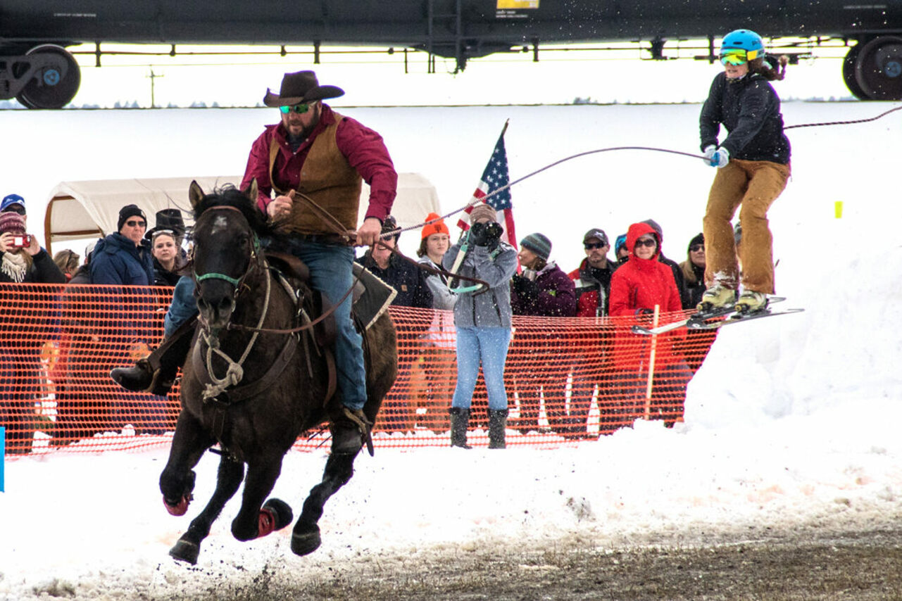 The World Invitational Skijoring Championship is a Whitefish institution.