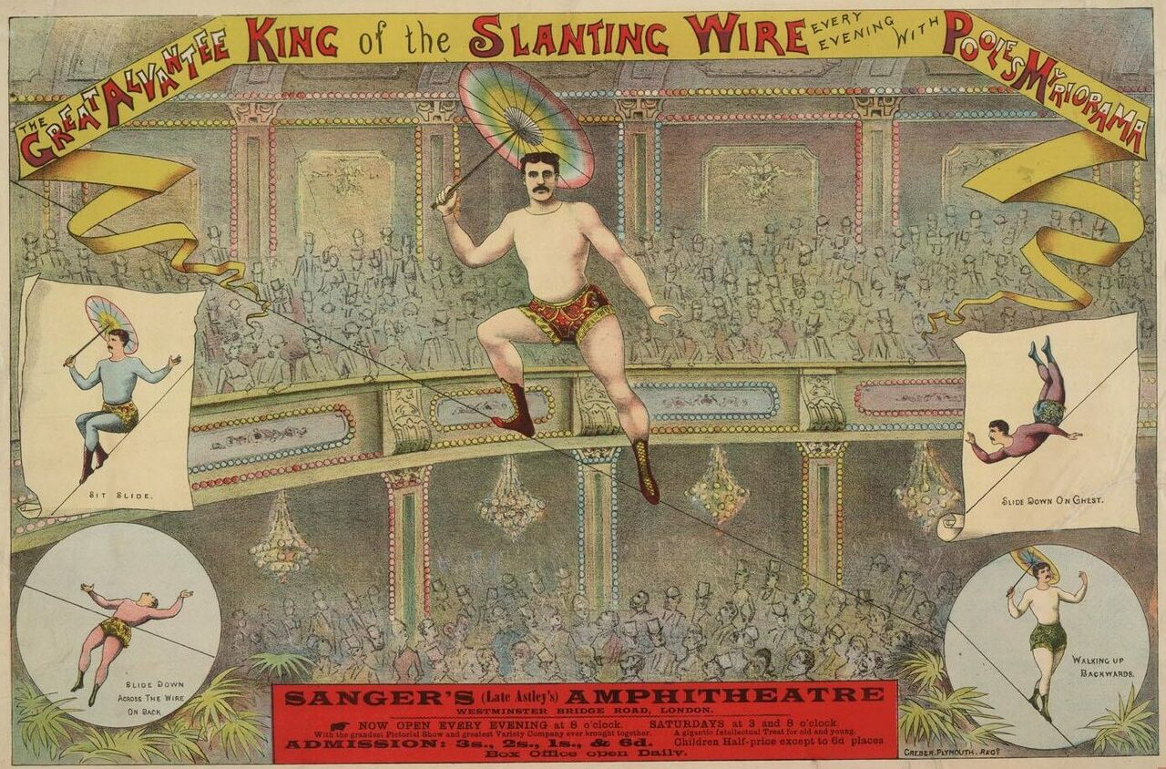 """""""The Great Alvantee, King of the Slanting Wire""""."""