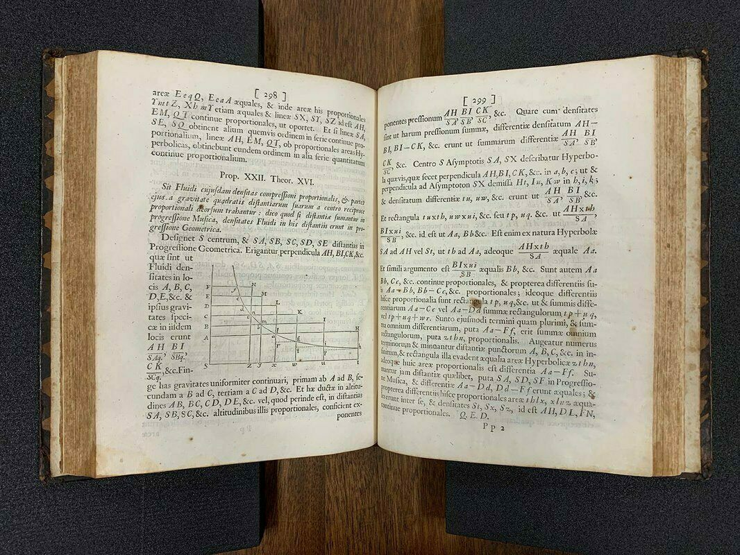 Caltech's copy of the <em>Principia</em> was owned in the 18th century by French mathematician and natural philosopher Jean-Jacques d'Ortous de Mairan.