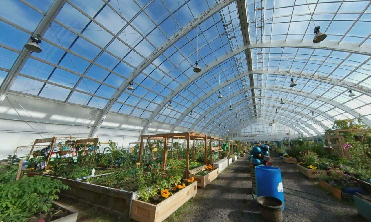 The Inuvik Community Greenhouse was once a hockey arena.