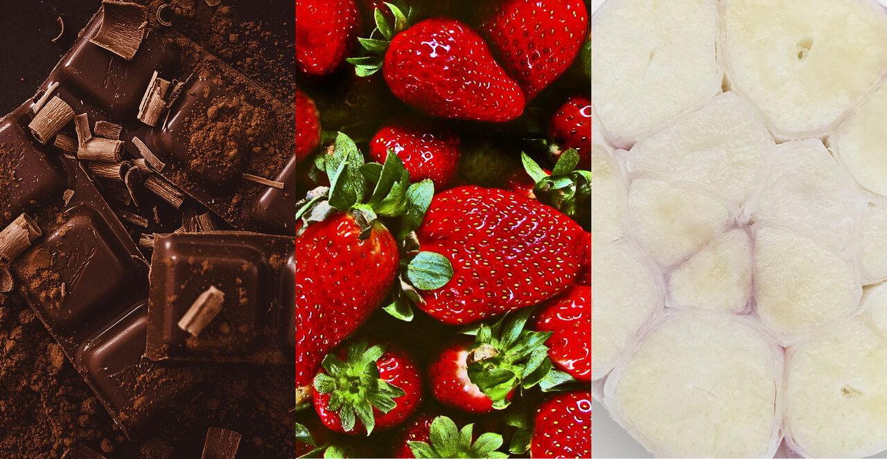 Chocolate, strawberry, and ... garlic?