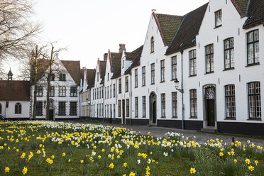 A beguinage in Bruges, Belgium.