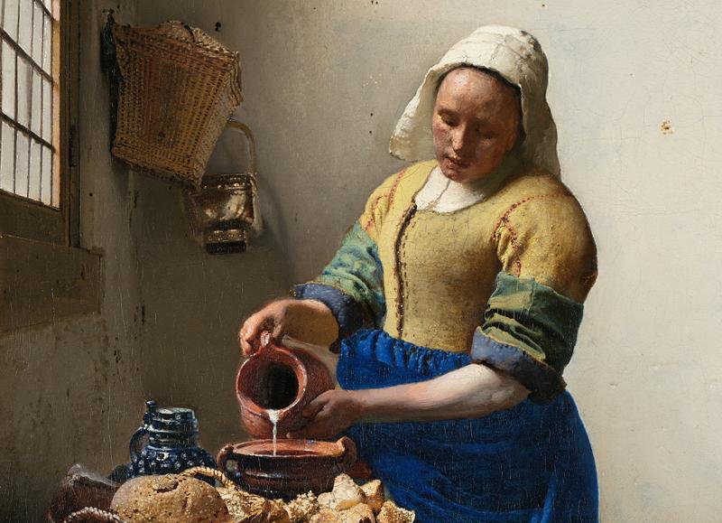 <em>Het melkmeisje</em>, <em>The Milkmaid</em>, Johannes Vermeer c. 1660.
