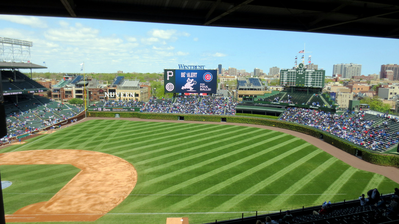 Wrigley Field, home of the Chicago Cubs.