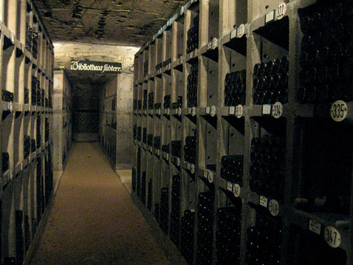 The wine cellar of the Johannisberg Castle, in Germany's Rhine Valley.