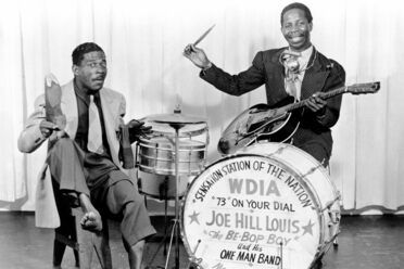 Joe Hill Louis, aka The Be-Bop Boy (right) was one of WDIA's DJs in the early 1950s.