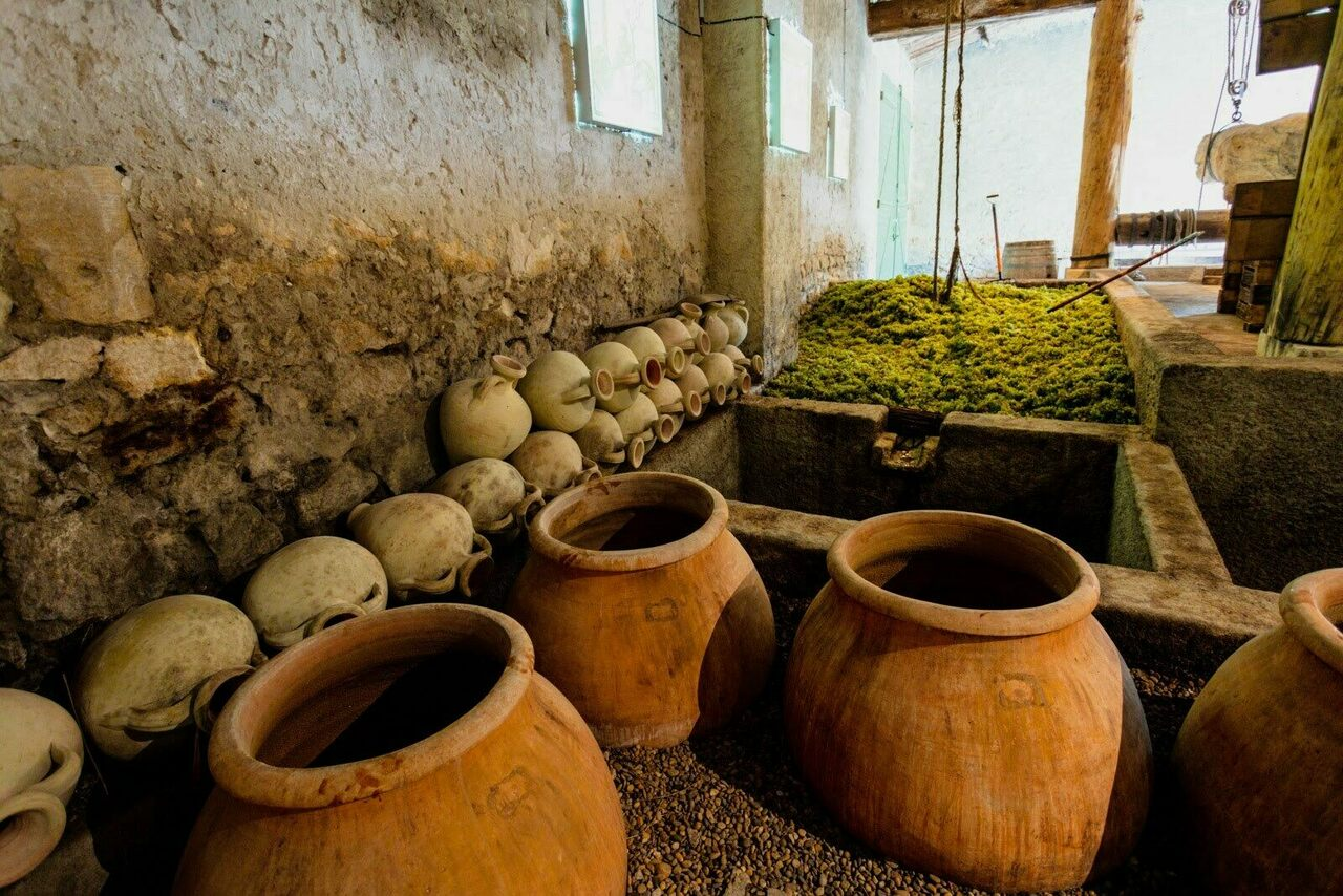 The Roman cellar at Mas des Tourelles was recreated with help from archaeologists.