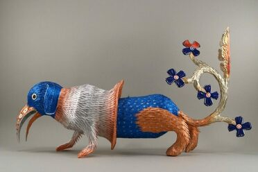 Benavidez's piñatas contain thousands of pieces of hand-cut paper and can take months to complete.