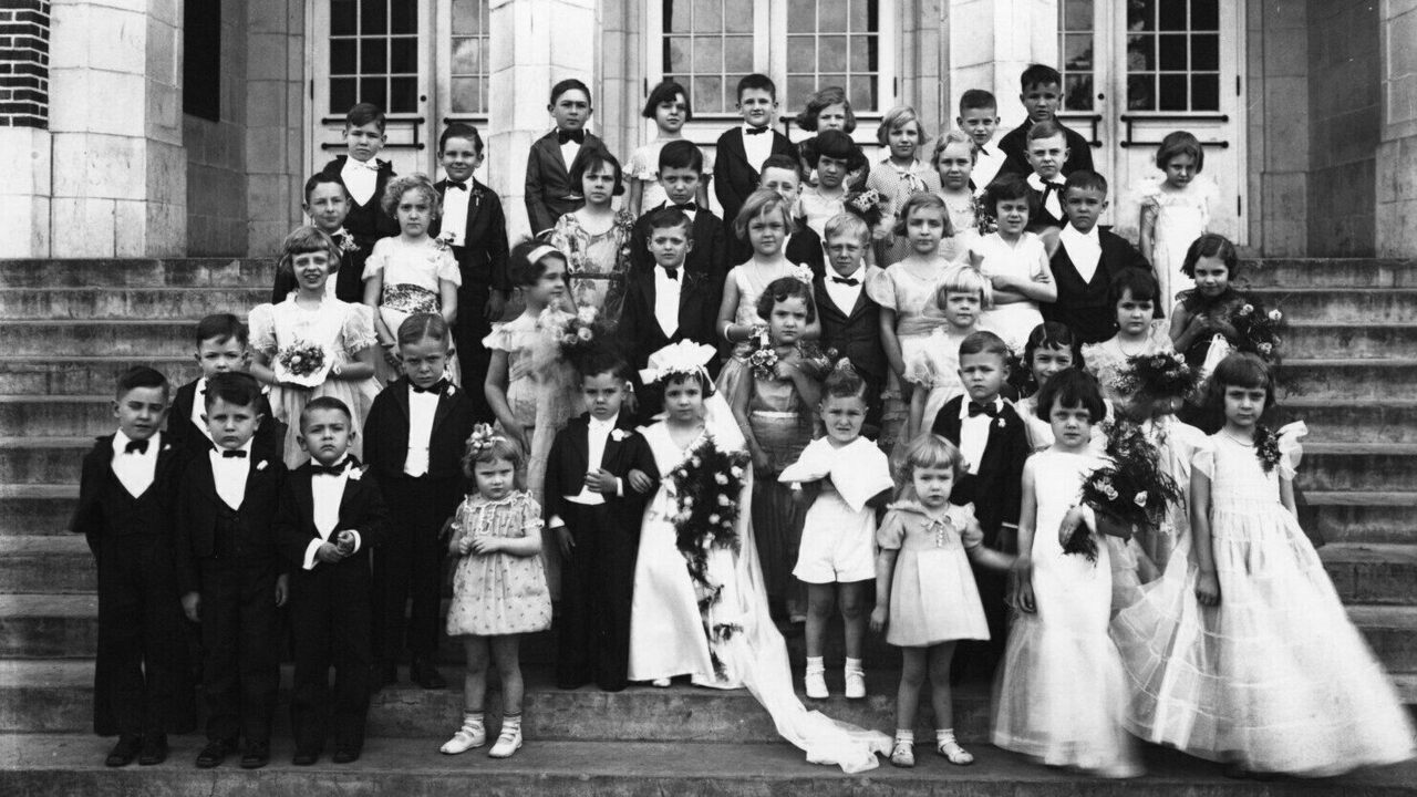 A Tom Thumb wedding in Crystal Springs, Mississippi.
