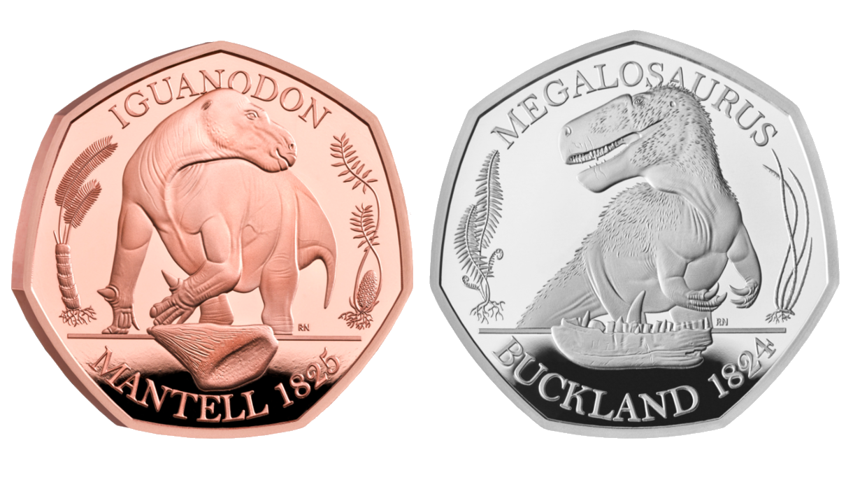 The Royal Mint coins—available in bronze, silver, and gold—are a testament to English paleontology.