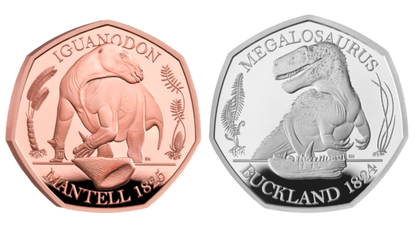 For Sale: Royally Minted Coins, Decorated With Dinosaurs