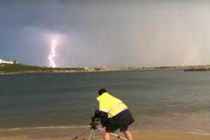 Fleeting Wonders: Lightning Strikes Ocean, Nearby Man Claims Superpowers