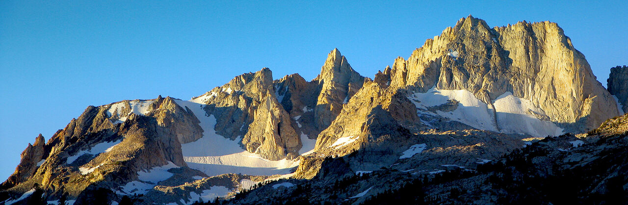 In high alpine terrain, sun and dry air can turn snow straight into water vapor.