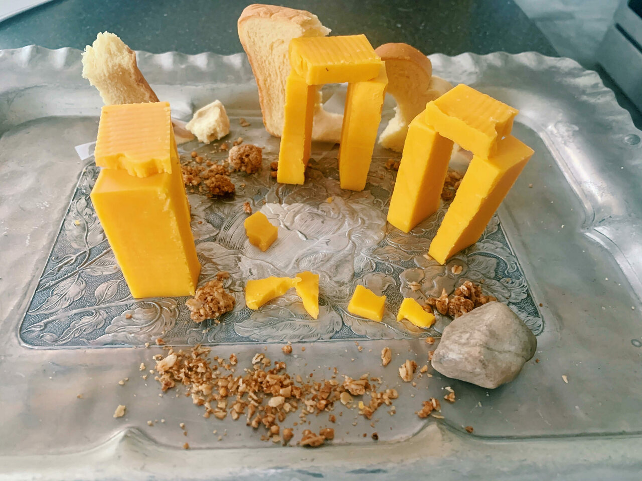 This cheese, granola, and bread creation was made by Alexandra McNamara in Tappan, New York.
