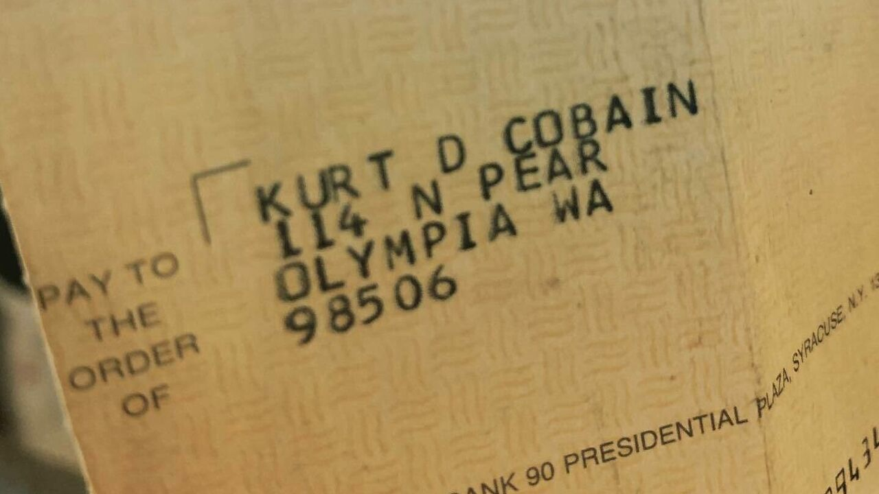 Found in a Record Store: Kurt Cobain's Royalty Check - Atlas