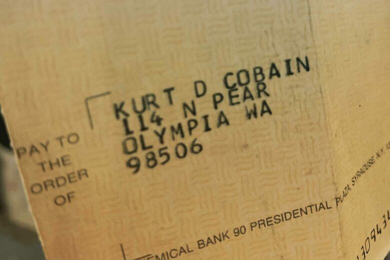 Found in a Record Store: Kurt Cobain's Royalty Check