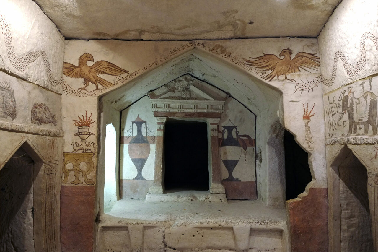 Apollophanes Cave, a burial site in Israel's Beit Guvrin-Maresha National Park.
