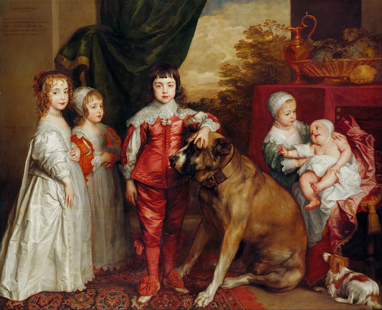 Anthony van Dyck's 1637 painting <em>Five Eldest Children of Charles I</em>.