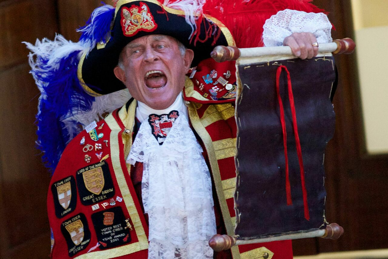 Town criers, one of Britain's longest—and loudest—traditions, fell silent during the pandemic, including competitions.
