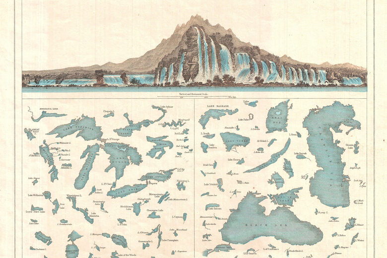 The 19th-Century Charts That Put the World's Waterfalls on One Impossible Landscape