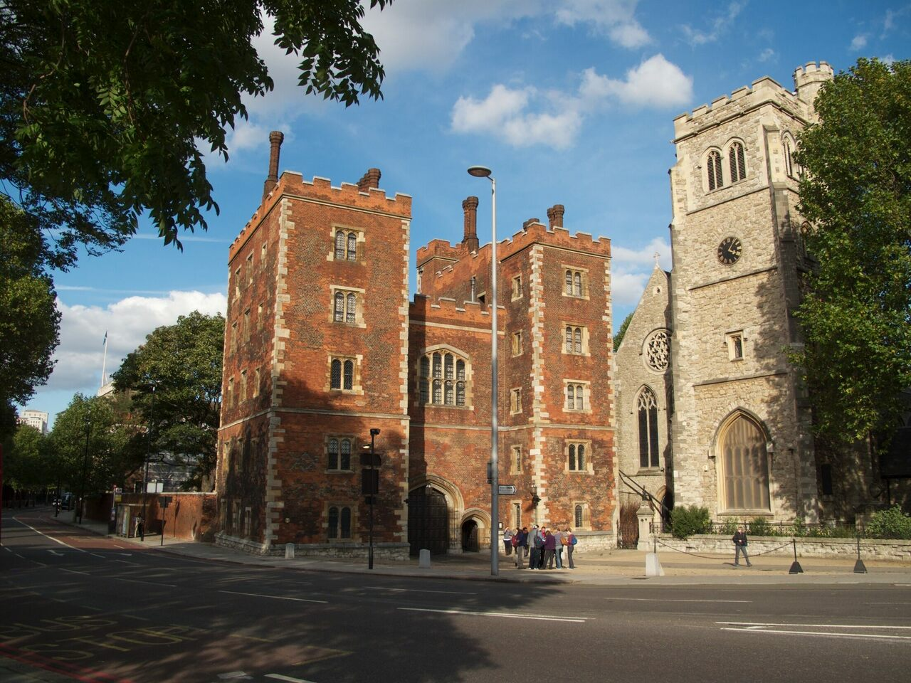 The manuscript with royal edits has spent the last 400 years in London's Lambeth Palace Library.
