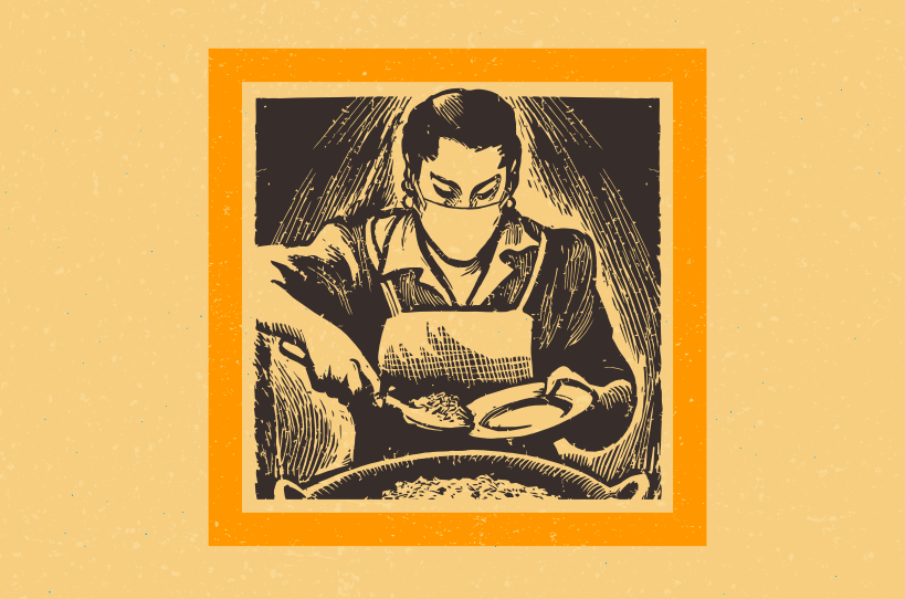 UTSA adapted an image from a 1960 cookbook for their pandemic-era cover.