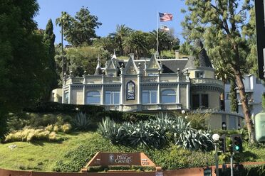 The side exterior of the Magic Castle.
