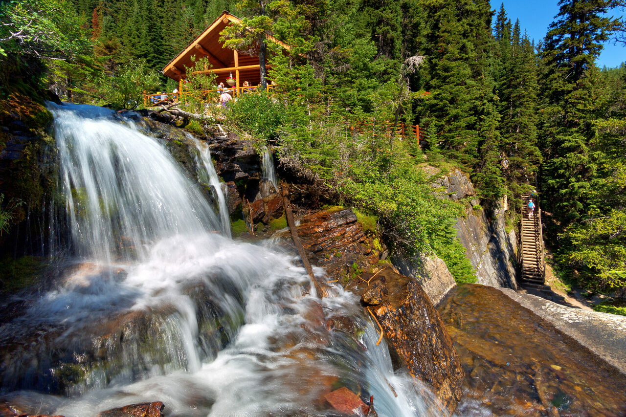 For chilly hikers, the Lake Agnes teahouse is a welcome sight.