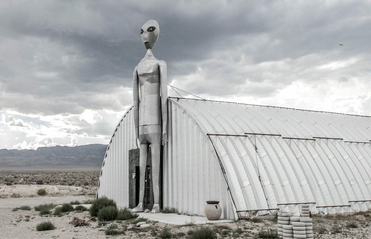 On the Extraterrestrial Highway, Nevada.