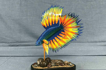 """This Siamese fighting fish is the """"most impressive"""" work National Fish Decoy Association founder Rod Osvold has ever seen."""