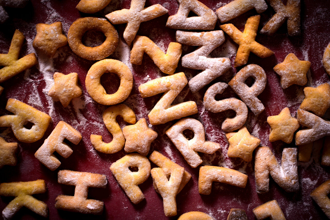 Alphabet cookies were all the rage in 17th-century England.