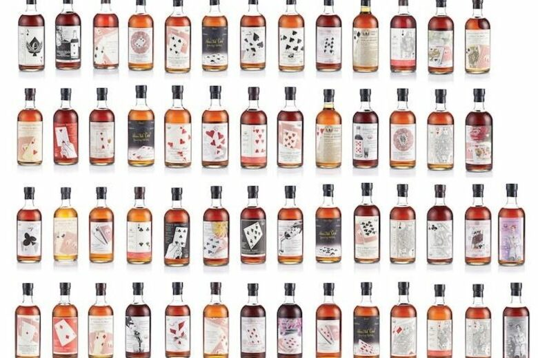 Sold: A Set of 54 Whisky Bottles, One for Every Playing Card