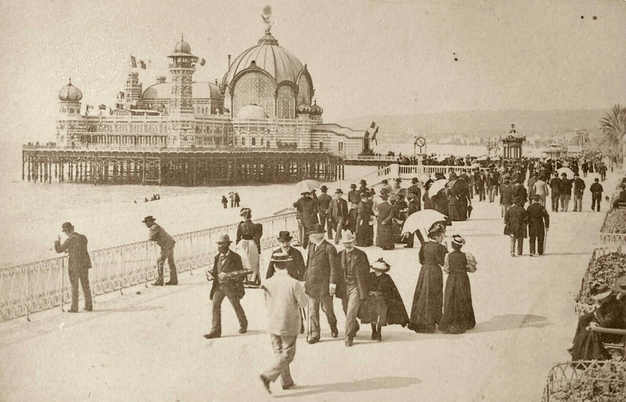 The French Riviera has been synonymous with glitz and glamour for well over a century, including in 1880, when this image of its famed promenade was taken.